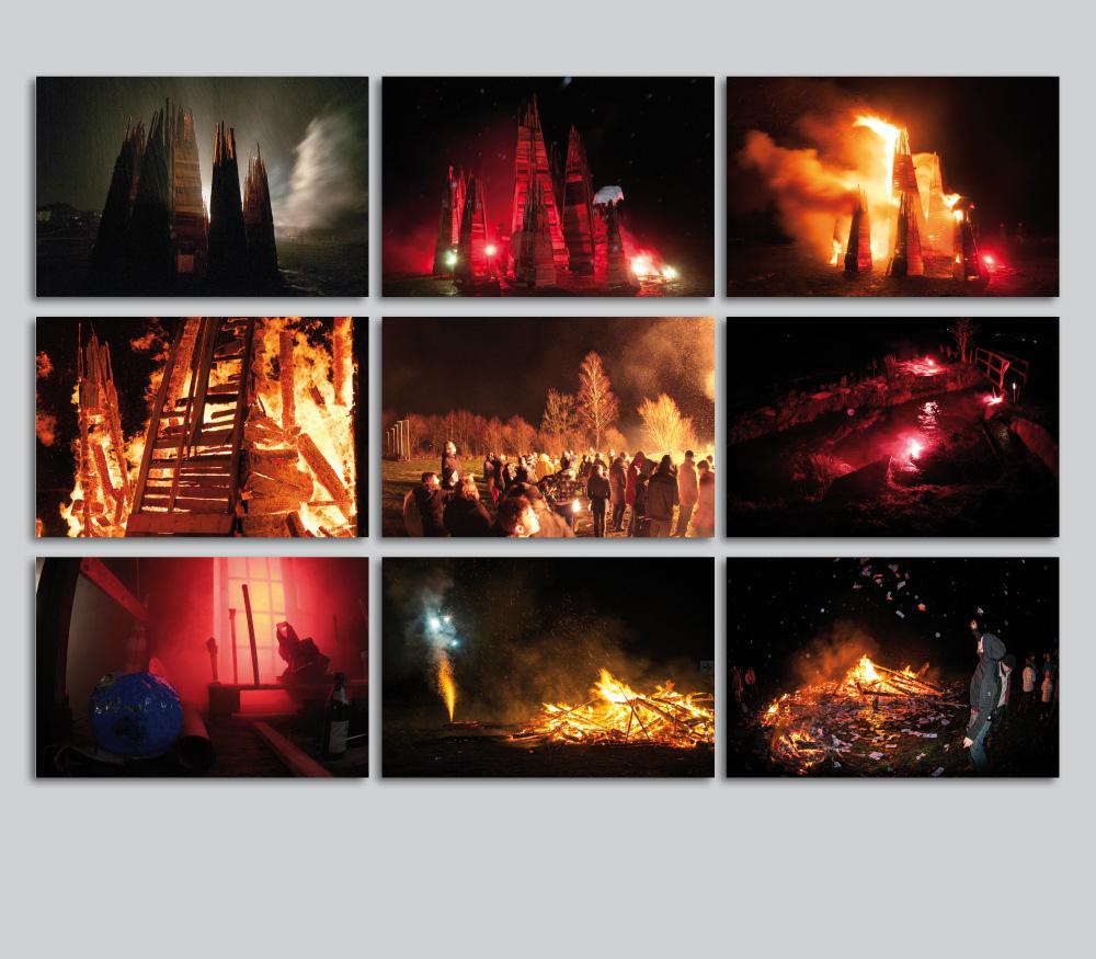 Weltuntergang Moosach 2012 Türme Rauch Regen Feuer Besucher